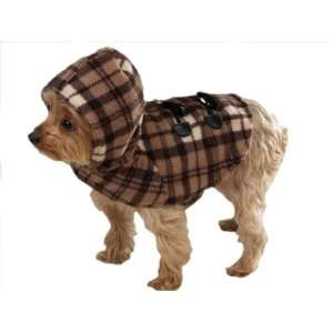 Zack & Zoey Brown Plaid Warm Quilted Fleece Coat Yukon Dog
