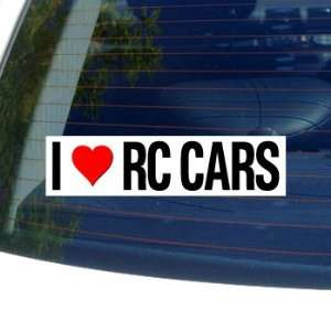 I Love Heart RC CARS   Window Bumper Sticker Automotive