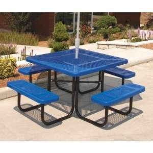 Ultra Play P Square Picnic Table with Perforated Pattern