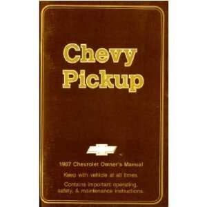 1987 CHEVORLET 1/2 1 TON PICKUP Owners Manual Guide