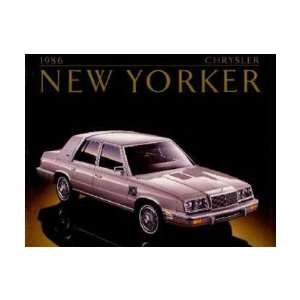 1986 CHRYSLER NEW YORKER Sales Brochure Literature Book