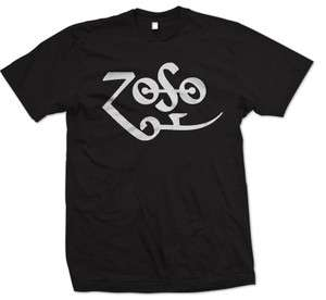 Zoso Jimmy Page Symbol Zeppelin Rock Retro Music New T shirt