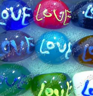 wholesale lots 24ps LOVE letter murano glass rings FREE