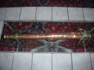 ANTIQUE LARGE COPPER & BRASS FIRE HOSE PLAY PIPE NOZZLE