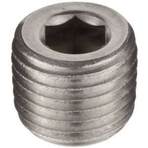 Brennan 5406 HP 04 SS Stainless Steel Pipe Fitting, Hex Head Plug, 1/4