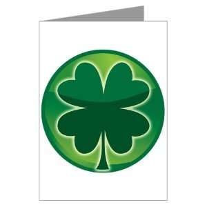 Greeting Card Shamrock Four Leaf Clover