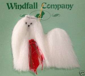 Maltese Dog Plush Christmas Ornament by Windfalls Co