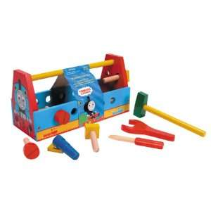 Schylling Thomas Wood Tool Box with Tools Toys & Games