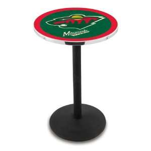 42 Minnesota Wild Bar Height Pub Table   Round Base