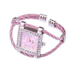 Pink Stylish Fashion Lady Women Girl Roman Numerals Dial