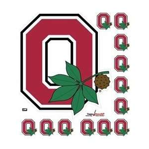 Ohio State Block O with Leaf Wall Decal Stik ables