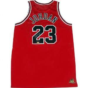 Michael Jordan Chicago Bulls Autographed Red Jersey