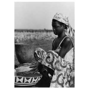 Ladi Sifting Millet, African American People Note Card by