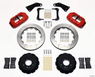WILWOOD DISC BRAKE KIT,FRONT,65 82 CORVETTE C2 C3,13 ROTORS,RED