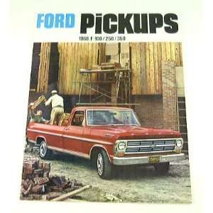 1968 68 FORD PICKUP Truck BROCHURE F350 F100 F250