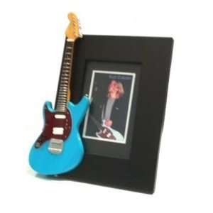 KURT COBAIN Miniature Guitar Photo Frame Jagstang Blue