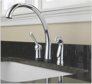 Delta 4380T DST Pilar Single Handle Kitchen Faucet with Touch2O