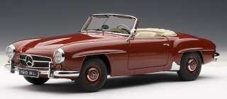AUTOART 76116 118 SCALE MERCEDES BENZ 190SL RED DIECAST MODEL CAR