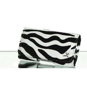 Safari Zebra Black and White Leather Pouch Case Apple iPod Touch 2