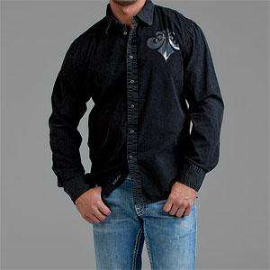 NWT AFFLICTION Mens Flurry Black Shirt s L