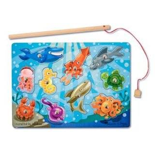 Melissa & Doug Deluxe 10 Piece Magnetic Fishing Game