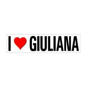 I Heart Love Giuliana   Window Bumper Sticker Automotive