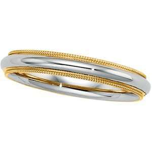 14K Two Tone Gold Design Band Ring Size 13 Jewelry