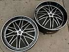 RUFF RACING 947 22 BLACK RIMS WHEELS BMW E38 E65 7 Series / 22 X 9.0