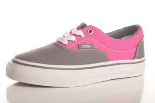 Vans Girls Kids Era Shoes Size 13 Pewter/Beetroot