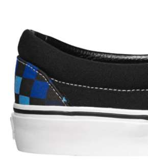 Vans Classic Slip On Checkerboard Black Blue Skateboarding Skate Shoes
