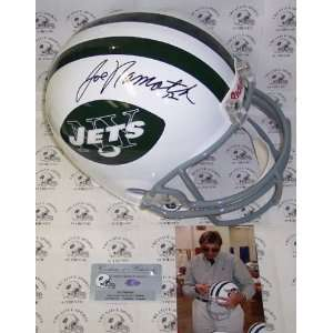 Joe Namath Autographed/Hand Signed New York Jets T/B Full Size Deluxe