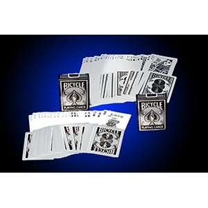 Reverse Silver Metalic magic trick cards tricks