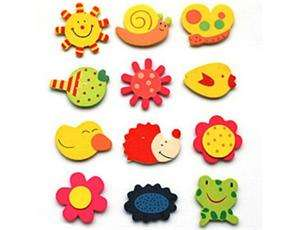 48 x Wooden Animal Fridge Magnets for baby Toy,Kids Party Favour Gift