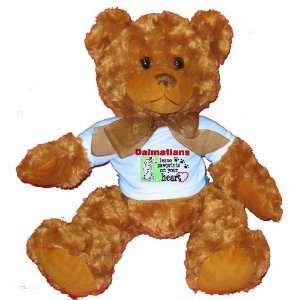 Dalmatians Leave Paw Prints on your Heart Plush Teddy Bear