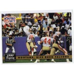 1991 Pro Set Joe Montana Jerry Rice 49ers 329 Mint Sports