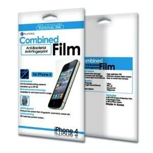 Bacteria and Anti Fingerprint Screen Protector Film for iPhone 4 Cell