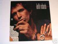 KEITH RICHARDS (ROLLING STONES) TALK IS CHEAP PROMO POSTER