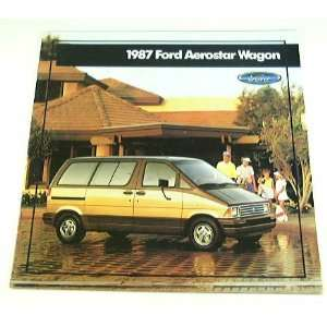 1987 87 Ford AEROSTAR WAGON Van BROCHURE Std XL XLT