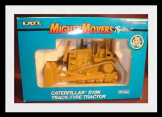 Ertl 150 Caterpillar D10N Track Type Tractor 1992 Might Movers #2436