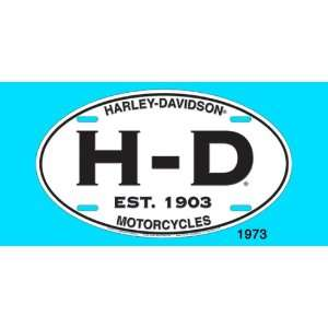 Chroma Graphics Harley Davidson White Oval License Plate