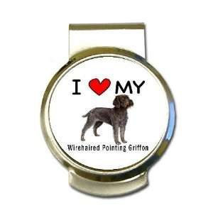 I Love My Wirehaired Pointing Griffon Money Clip Office