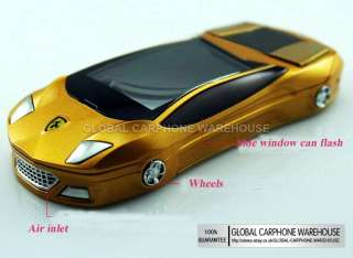 & Unlocked Slide SPORTS CAR CC Dual Sim Mobile Cell Phone Best Gift