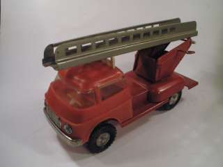 VINTAGE USSR FIRE ENGINE TRUCK TIN PLASTIC FRICTION TOY