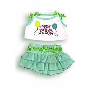 Birthday Girl Dress Outfit Teddy Bear Clothes Fit 14   18