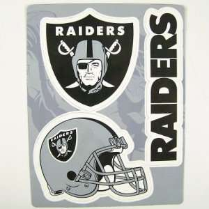 OAKLAND RAIDERS TEAM LOGO CAR FRIDGE MAGNET SET (3