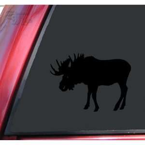 Bull Moose Vinyl Decal Sticker   Black