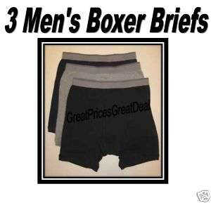 Mens BOXER BRIEF SOFT COTTON Underwear 2XL 46 48