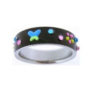 Color Change Butterfly Ring in Stainless Steel Everything