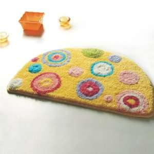 Naomi   [Yellow Polka Dots] Kids Room Rugs (15.7 by 24.8