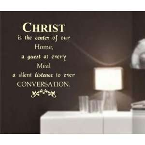 Christ Wall Quote Decal Sticker Christian Jesus Religion Art